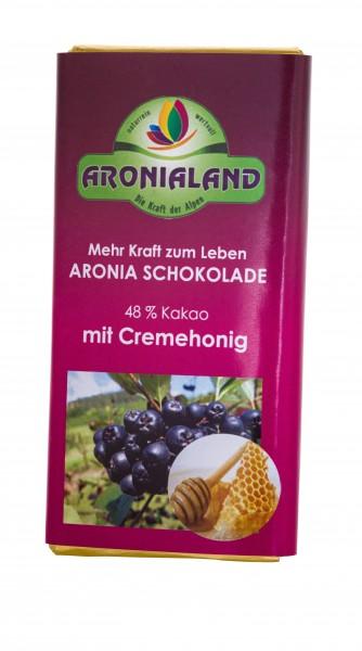 Schokolade mit Aroina Cremehonig