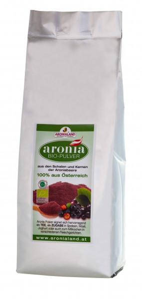 Bio Aronia Spezial Pulver (Großpackung 750gr)